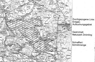 Karte Naturpark Drömling